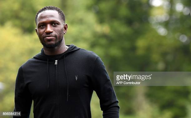 France's midfielder Moussa Sissoko arrives in ClairefontaineenYvelines on October 2 to take part in the team's upcoming preparation for the FIFA...