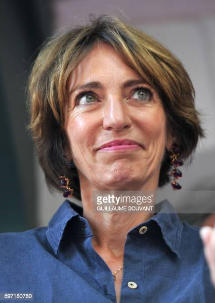 France's Minister of Health Marisole Touraine looks on during the 21th book fair La Foret Des Livres on August 28 2016 in ChanceauxprèsLoches central...