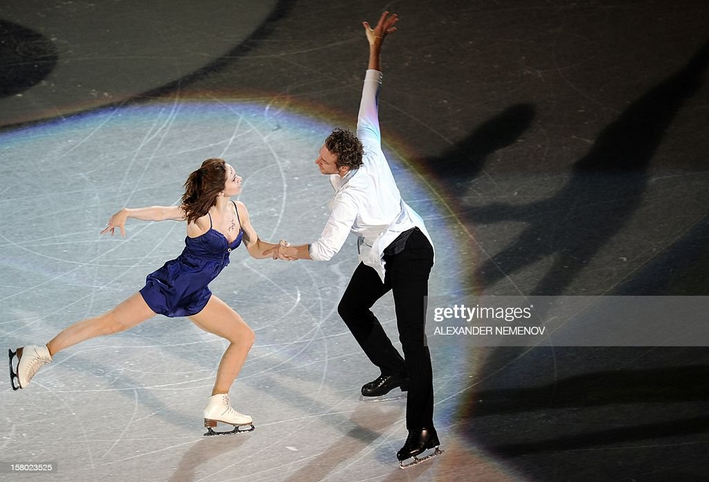France's Nathalie Pechalt and Fabian Bourzat perform during gala exhibition at the ISU Grand Prix of Figure Skating Final in Sochi on December 9, 2012.
