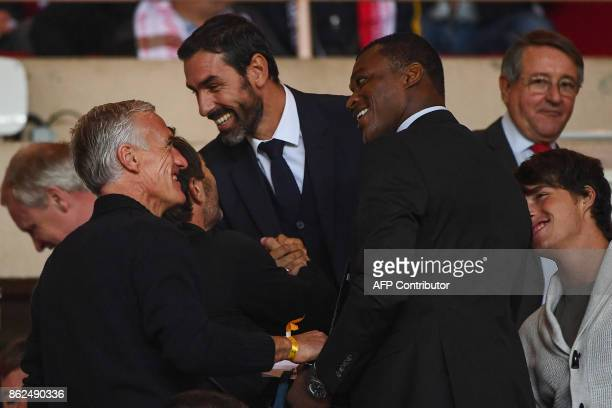 France's national football team coach and 1998 World Cup Champion Didier Deschamps 1998 World Cup Champion Robert Pires and 1998 World Cup Champion...