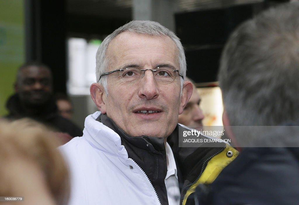 France's national rail company SNCF head, Guillaume Pepy, is pictured at the Gare de Lyon railways station on January 25, 2013 in Paris, during the celebration of the 2 billionth traveler of the company.