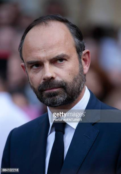France's newlyappointed Prime Minister Edouard Philippe attends an official handover ceremony at the 'Hôtel Matignon' the French prime minister's...