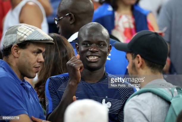 France's N'Golo Kante celebrates after the final whistle
