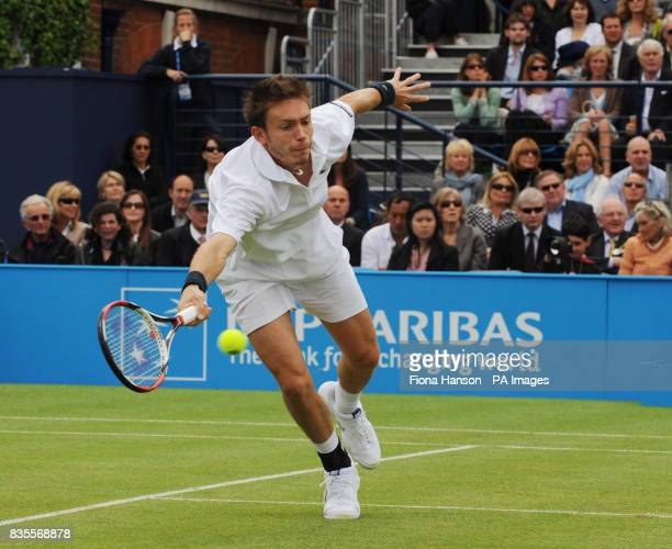 France's Nicolas Mahut during his win over Croatia's Marin Cilic during day three of the AEGON Championships at The Queen's Club London