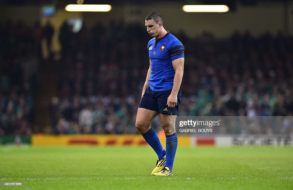 France's number 8 <a gi-track='captionPersonalityLinkClicked' href=/galleries/search?phrase=Louis+Picamoles&family=editorial&specificpeople=4877126 ng-click='$event.stopPropagation()'>Louis Picamoles</a> reacts after Ireland's scrum half Conor Murray scored his team's second try during a Pool D match of the 2015 Rugby World Cup between France and Ireland at the Millennium Stadium in Cardiff, south Wales, on October 11, 2015.