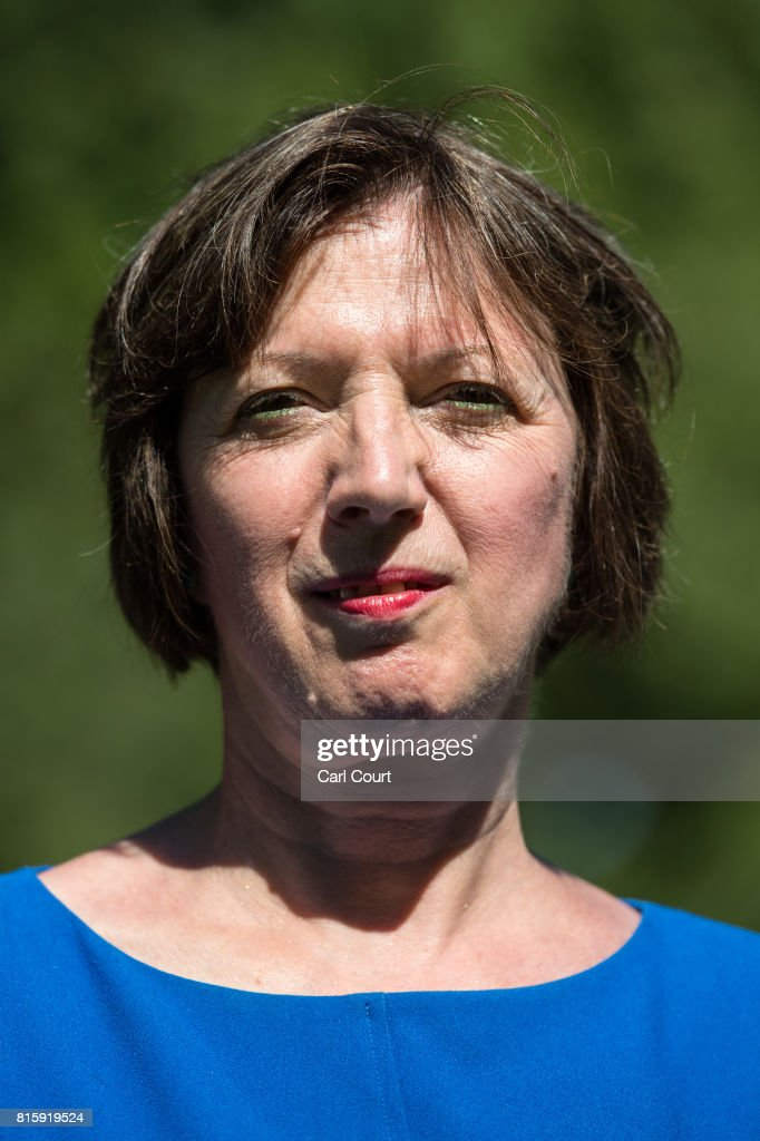 Frances O'Grady, the General Secretary of the Trades Union Congress (TUC), poses for a photograph after joining union members at a protest over public sector pay on July 17, 2017 in London, England. The TUC is campaigning for better pay and working conditions for its members.