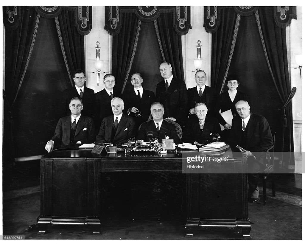 First Woman Cabinet Member Roosevelts Cabinet Including Frances Perkins Pictures Getty Images