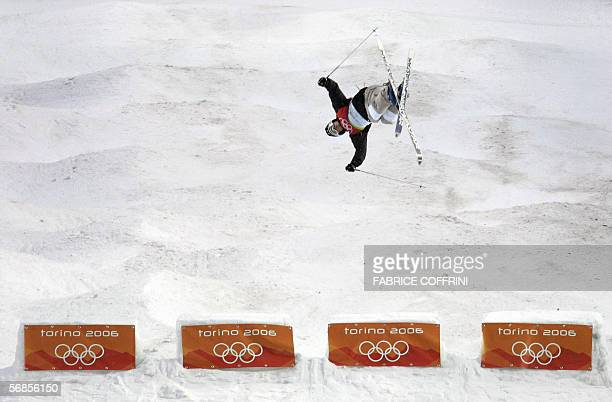 France's Pierre Ochs competes during the second qualifying run of the Freestyle skiing Men's Moguls at the Turin 2006 Winter Olympics 15 February...