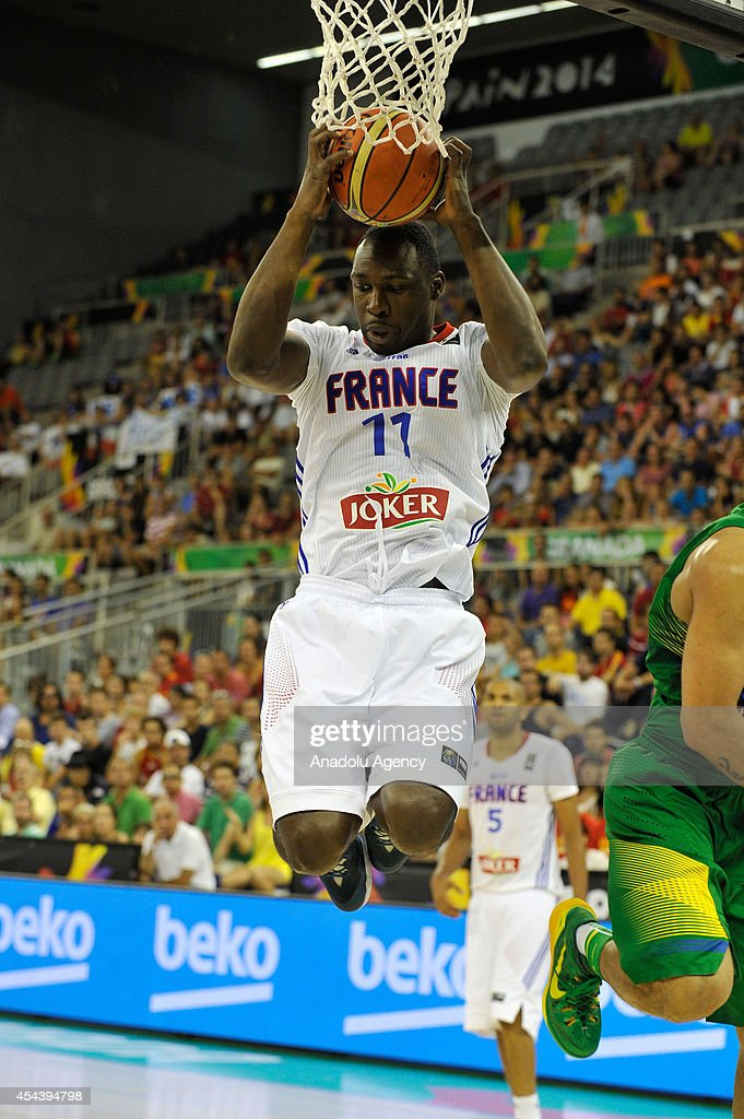 France's Pietrus Florent (11) in action during the 2014 FIBA World basketball championships group A match between France and Brazil at the Palacio Municipal de Deportes in Granada, Spain on August 30, 2014.