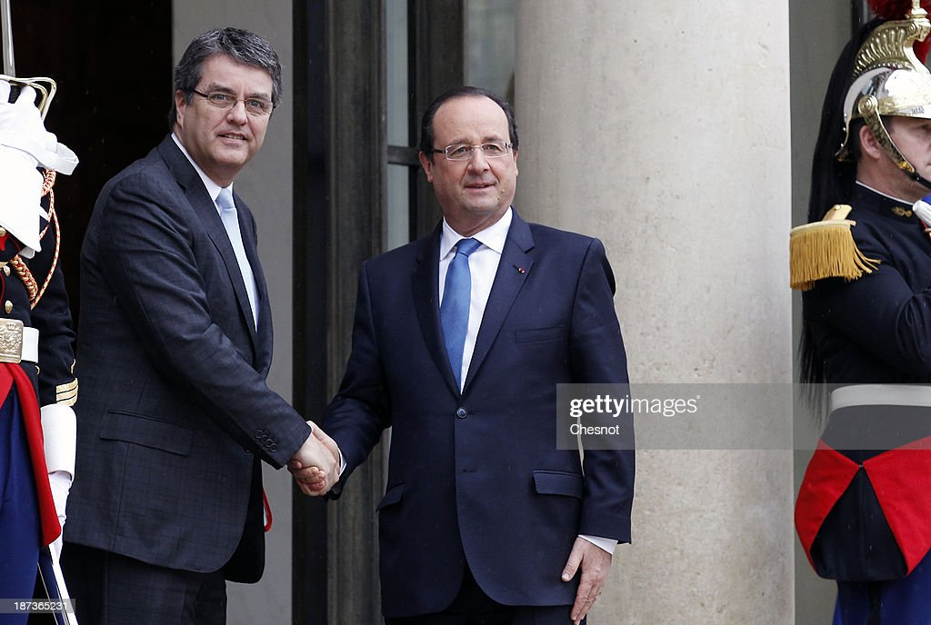 President Francois Hollande Meets Leaders Of World Organisations Linked To G20