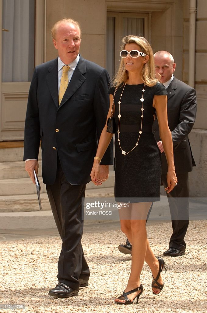 France's President <a gi-track='captionPersonalityLinkClicked' href=/galleries/search?phrase=Nicolas+Sarkozy&family=editorial&specificpeople=211375 ng-click='$event.stopPropagation()'>Nicolas Sarkozy</a> at the Hotel Marigny for a lunch with members of the government during the celebration of the Bastille day in Paris, France on July 14, 2007 - <a gi-track='captionPersonalityLinkClicked' href=/galleries/search?phrase=Brice+Hortefeux&family=editorial&specificpeople=569881 ng-click='$event.stopPropagation()'>Brice Hortefeux</a>.