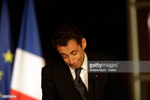France's President Nicolas Sarkozy delivers a speech to French deputies from his Union for a Popular Movement political party at the Elysee Palace