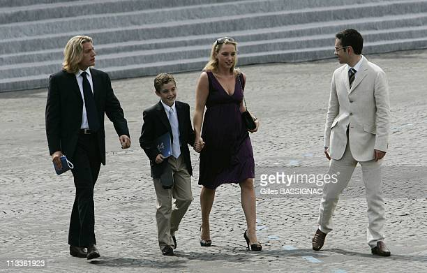 France'S President Nicolas Sarkozy During Bastille Day Ceremonies At The Concorde Place In Paris France On July 14 2007 Jean Sarkozy Louis Sarkozy...