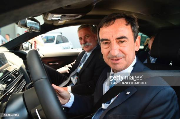 France's President of the Automobile Club de lOuest Pierre Fillon in charge of the organisation of the Le Mans 24hours endurance race and CEO and...