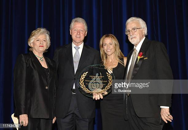 Frances Preston President of the TJ Martell Foundation Sheryl Crow and Tony Martell present Former President Bill Clinton with the Humanitarian of...