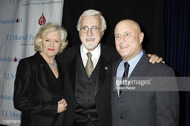 Frances Preston Tony Martell and Ronald Perelman during 30th Annual TJ Martell Foundation Gala at The Marriott Marquis Hotel in New York New York...
