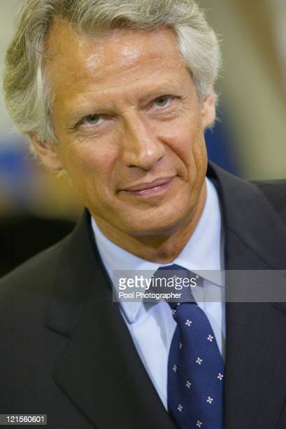 France's Prime Minister Dominique de Villepin during an Official Visit to Industrial Jobs Formation Centre Paris 20 January 2006