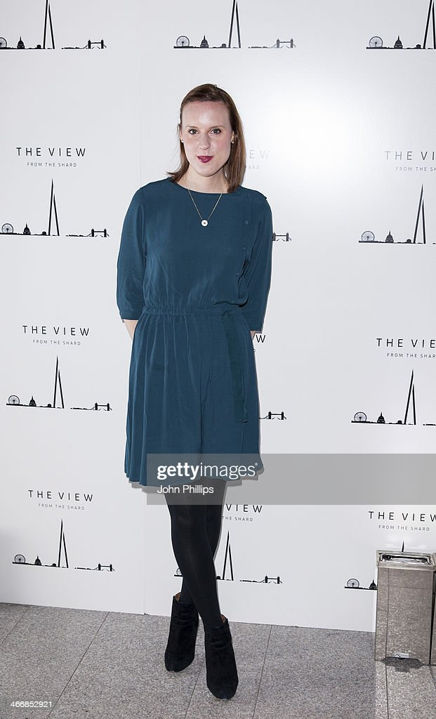 Frances Quinn attends the 1st birthday party at The View from The Shard on February 4, 2014 in London, England.