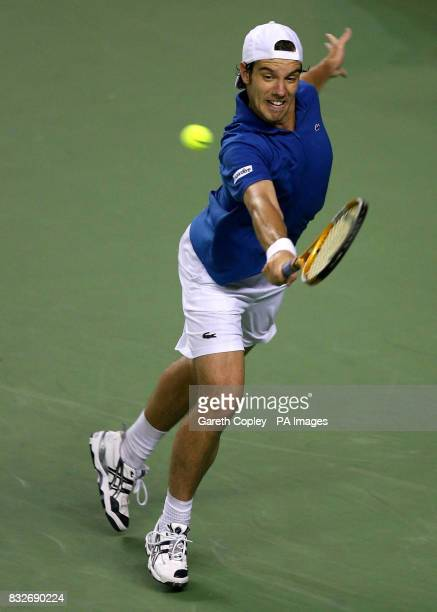France's Richard Gasquet during his third round match against France's Gael Monfils in the Australian Open at Melbourne Park Melbourne Australia