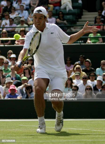 France's Richard Gasquet in action against France's Gilles Simon