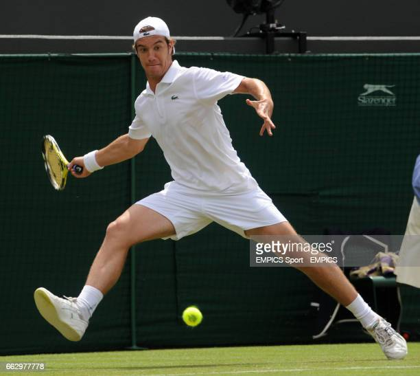 France's Richard Gasquet in action against USA's Mardy Fish