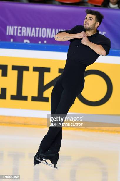 France's Romain Ponsart performs during the men's short program during event of the Internationaux de France ISU Grand Prix of Figure Skating in...
