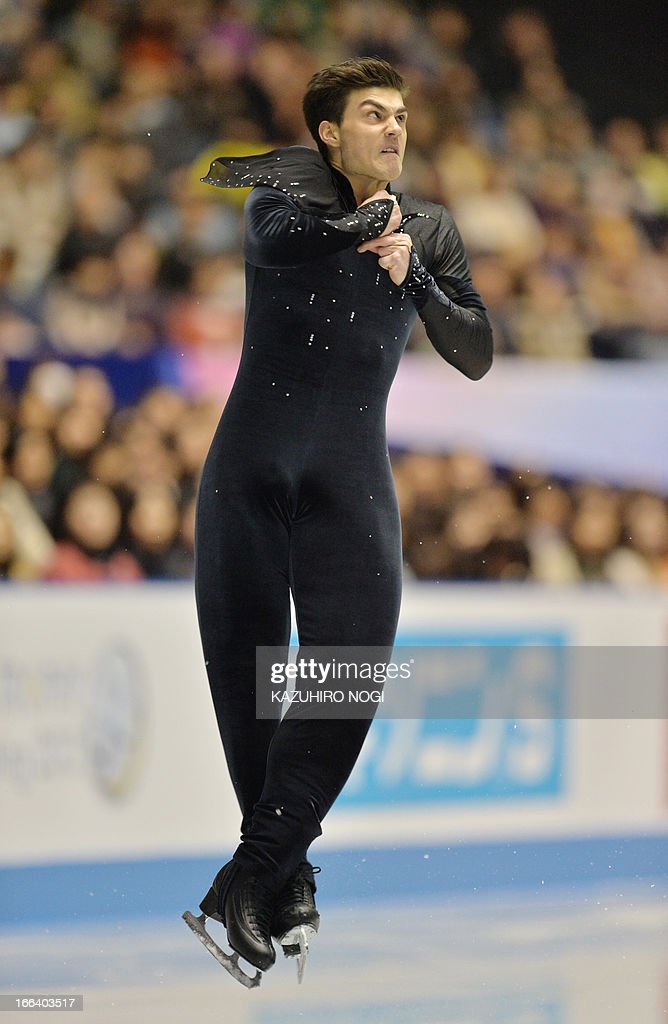 France's Romain Ponsart performs in the men's free skating at the World Team Trophy figure skating competition in Tokyo on April 12, 2013.