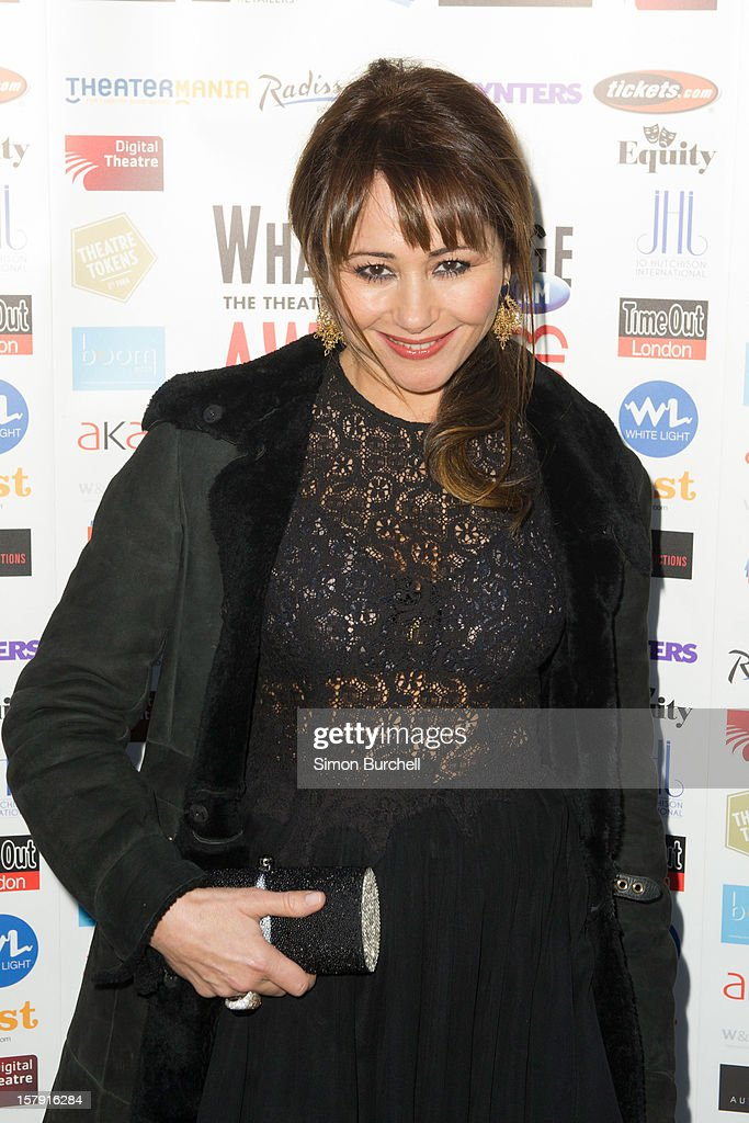 Frances Ruffelle attends the Whatsonstage.com Theare Awards nominations launch at Cafe de Paris on December 7, 2012 in London, England.