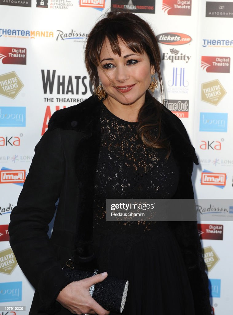 Frances Ruffelle attends the Whatsonstage.com Theatre Awards nominations launch at Cafe de Paris on December 7, 2012 in London, England.