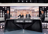 France's Socialist Party candidate for the 2012 French presidential election Francois Hollande and France's incumbent president and Union for a...