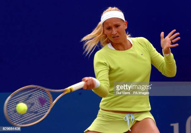 France's Tatiana Golovin in action against Russia's Maria Sharapova