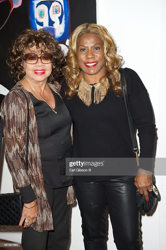 Frances Taylor (ex-wife of Miles Davis) and Cheryl Davis (daughter of Miles Davis) attend the 'Miles Davis: The Collected Artwork' Launch Party at Mr. Musichead Gallery on November 7, 2013 in Los Angeles, California.