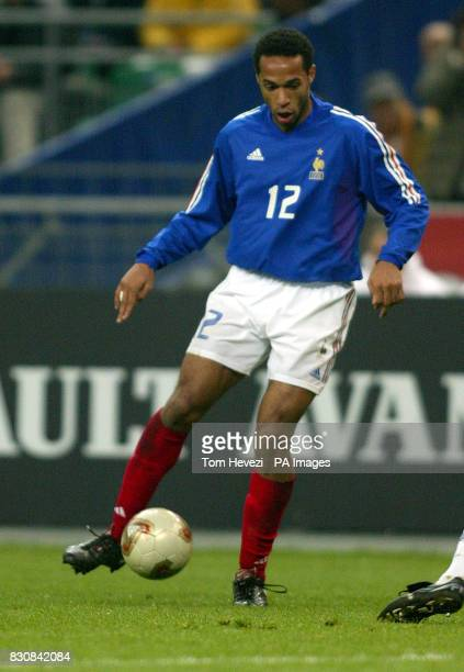 France's Thierry Henry in action during the international friendly match against Scotland at the Stade De France
