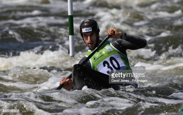France's Tony Estanguet in action in the Men's C1 during the European Slalom Championships at Holme Pierrepont Nottingham