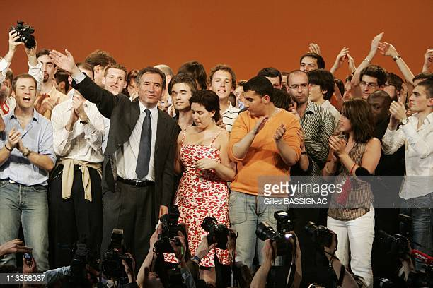France'S Udf Political Party Presidential Candidate Francois Bayrou At A Political Rally In Paris Bercy In Paris France On April 18 2007 France's UDF...