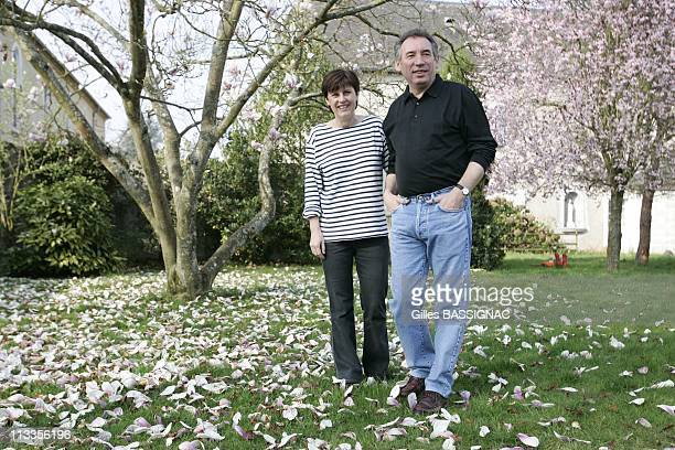France'S Udf Political Party Presidential Candidate Francois Bayrou And His Wife Elisabeth In His House In The SouthWestern Village Of Borderes In...