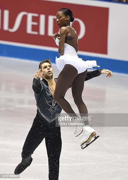 France's Vanessa James and Morgan Cipres perform during the free skating in the pairs event at the ISU World Team Trophy figure skating competition...