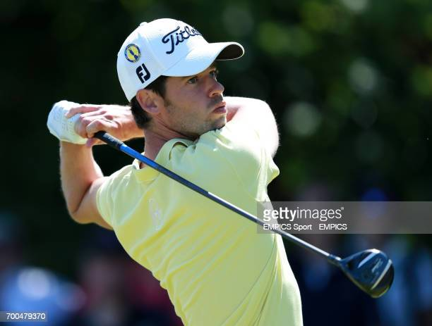 France's Victor Riu tees off the 5th during day one of the 2014 Open Championship at Royal Liverpool Golf Club Hoylake