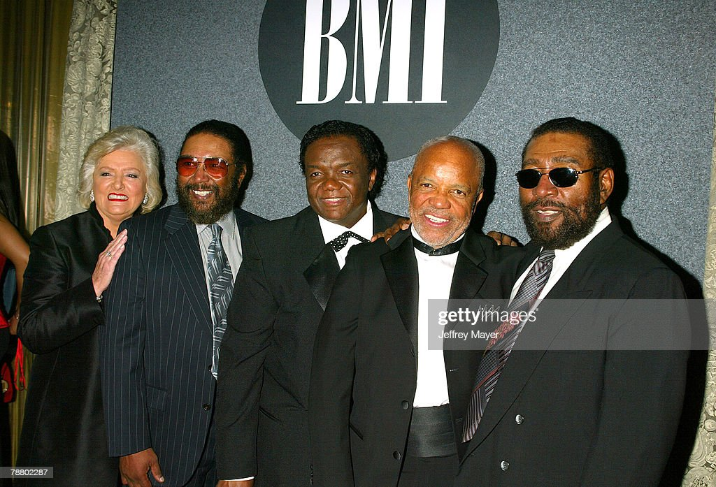 Frances W. Preston (President & CEO of BMI), Eddie Holland, Lamont Dozier, Berry Gordy (Founder of Motown Records) & Brian Holland