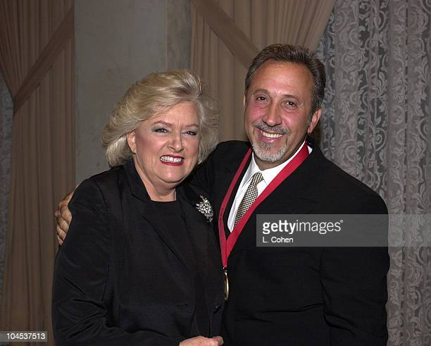 Frances W Preston Emilio Estefan during The 8th Annual BMI Latin Awards at Beverly Wilshire Hotel in Los Angeles California United States