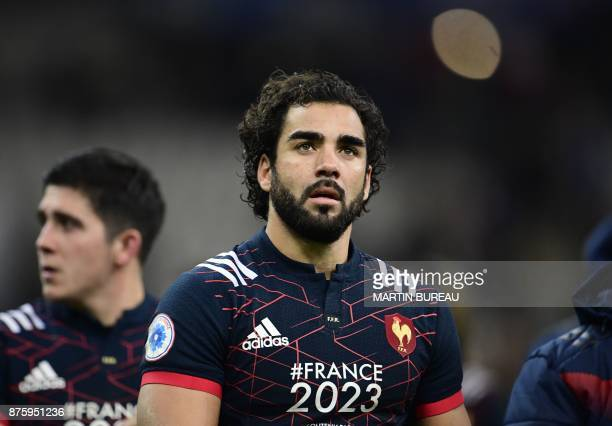 France's wing Yoann Huget looks on after the friendly rugby union international Test match between France and South Africa's Springboks at The Stade...