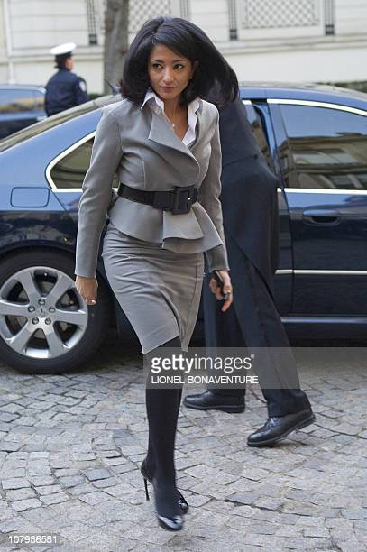 France's Youth and Associations Junior Minister Jeannette Bougrab arrives for a breakfast at the Interior ministry on January 5 2011 at Beauvau...