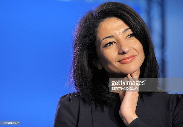 France's Youth and Associations Junior Minister Jeannette Bougrab is seen during the French rightwing UMP ruling party New Year wishes to journalists...