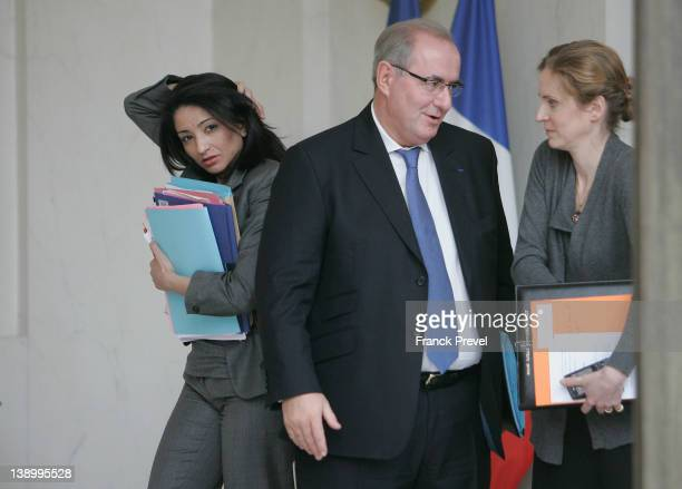 France's Youth and Associations Junior Minister Jeannette Bougrab France's Justice Minister Michel Mercier and France's Ecology and Sustainable...
