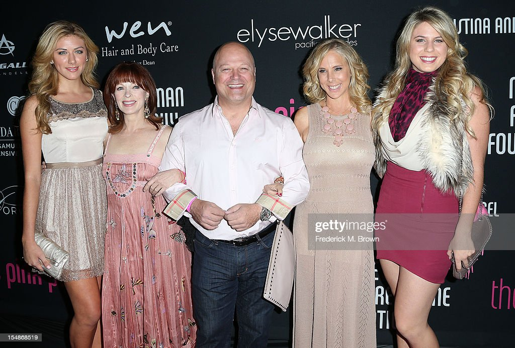 Francesa Eastwood, actress Frances Fisher, actor Michael Chiklis, and their guest attend Elyse Walker Presents The Eighth Annual Pink Party Hosted By Michelle Pfeiffer To Benefit Cedars-Sinai Women's Cancer Program at Barkar Hangar Santa Monica Airport on October 27, 2012 in Santa Monica, California.