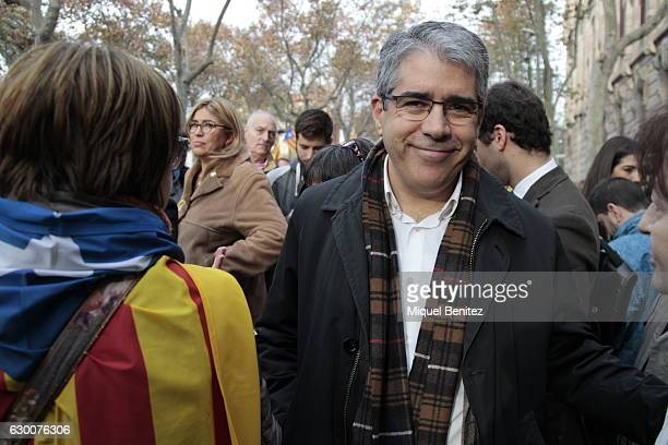 Francesc Homs gives support to The President of the Catalan Parliament Carme Forcadell accompanied by hundreds of members of the Parliament and...