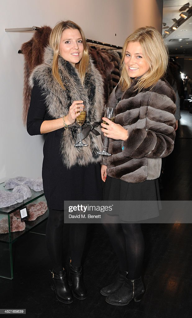 Francesca Alen and Hetty Chadwick attend A Winter's Evening With Hockley hosted by Alice Naylor-Leyland and Katie Readman to preview the Autumn/Winter 2013-2014 collection at the Hockley Conduit Street store on November 26, 2013 in London, England.