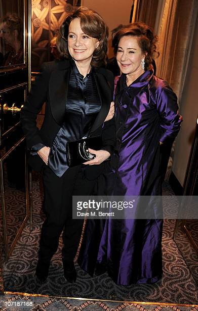 Francesca Annis and Zoe Wanamaker attend the London Evening Standard Theatre Awards at The Savoy Hotel on November 28 2010 in London England