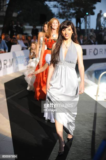 Francesca Caldarelli Girlfriend of Vitantonio Liuzzi during the Fashion Show at The Amber Lounge Le Meridien Beach Plaza Hotel Monaco