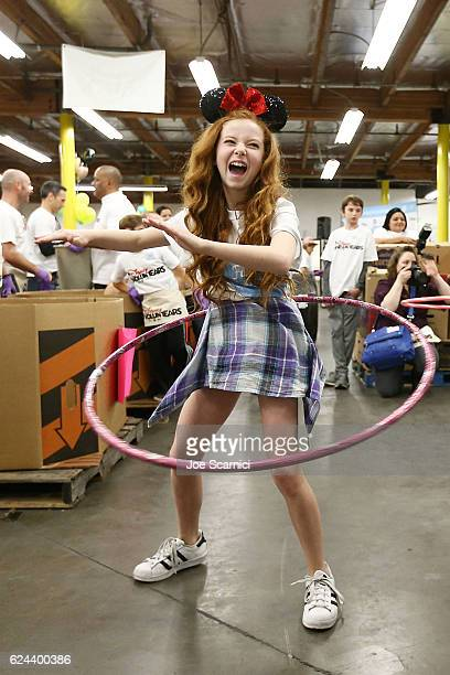 Francesca Capaldi attends the generationOn and Disney Family Volunteer Day event on November 19 2016 in Los Angeles California